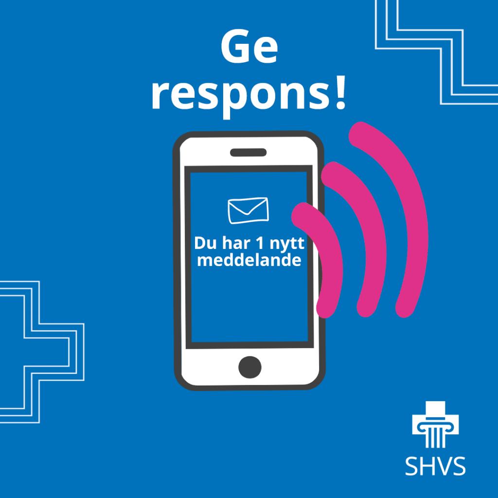 ge respons! en mobil, du har 1 nytt meddelande